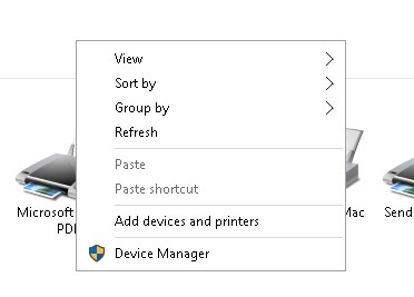 Add Devices and Printers Windows