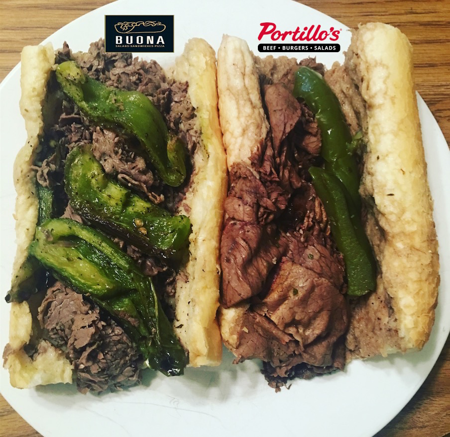 Buona Beef vs Portillos Beef Side by Side