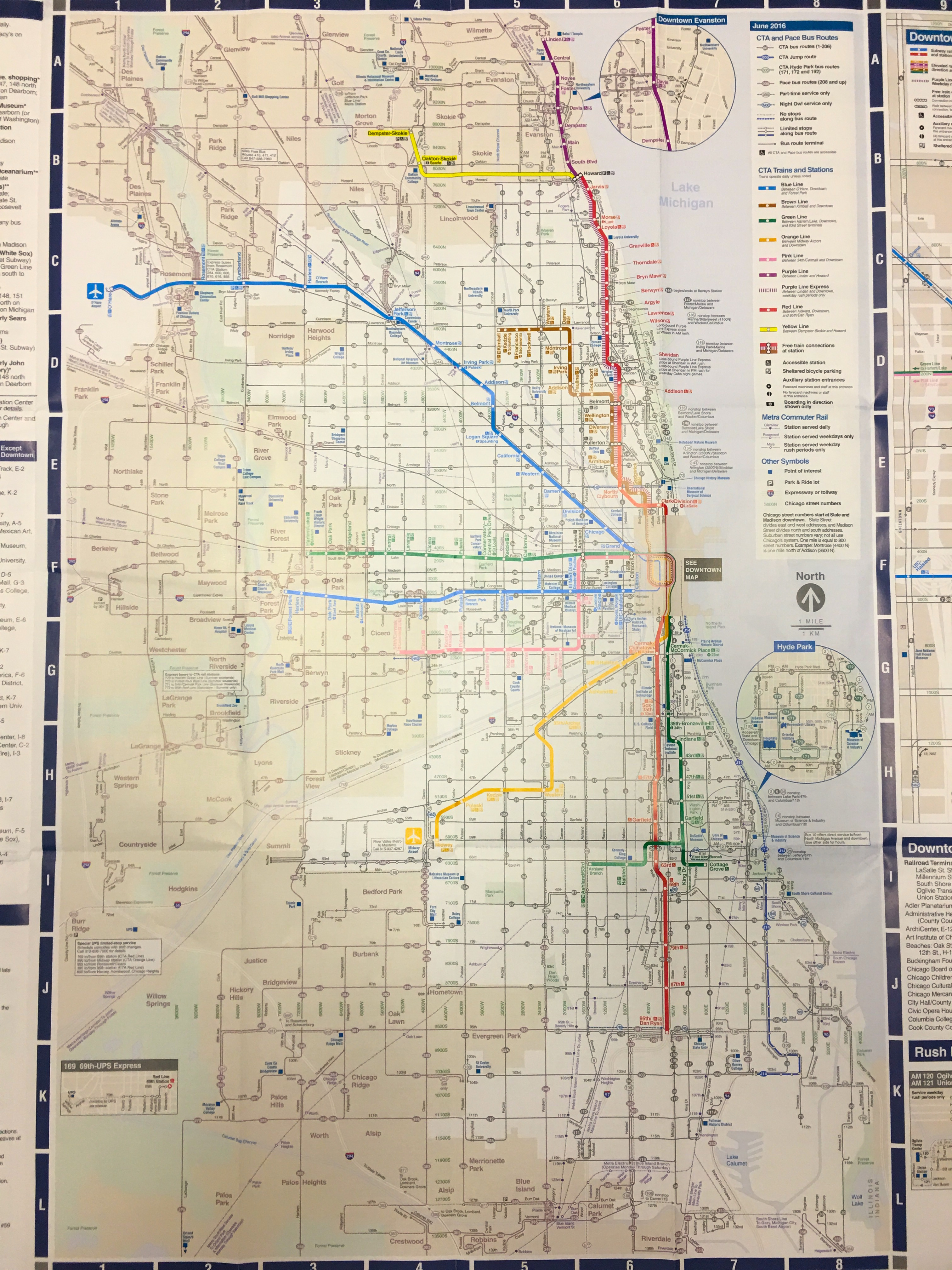 Chicago CTA Train Bus Map - Chicago map by county