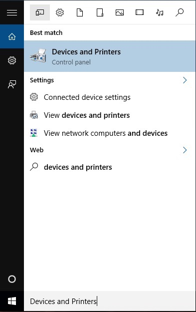 Devices and Printers Control Panel Add Printer Windows