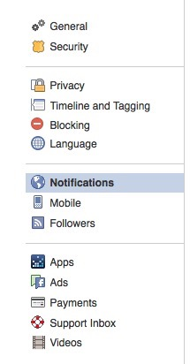 Facebook Account Notifications