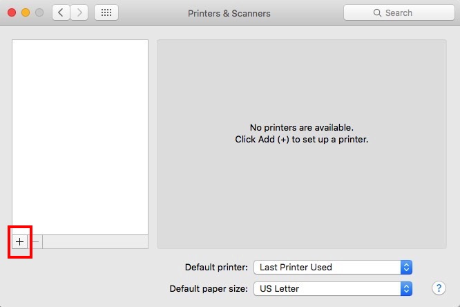 Add Printer System Preferences Mac 10.11
