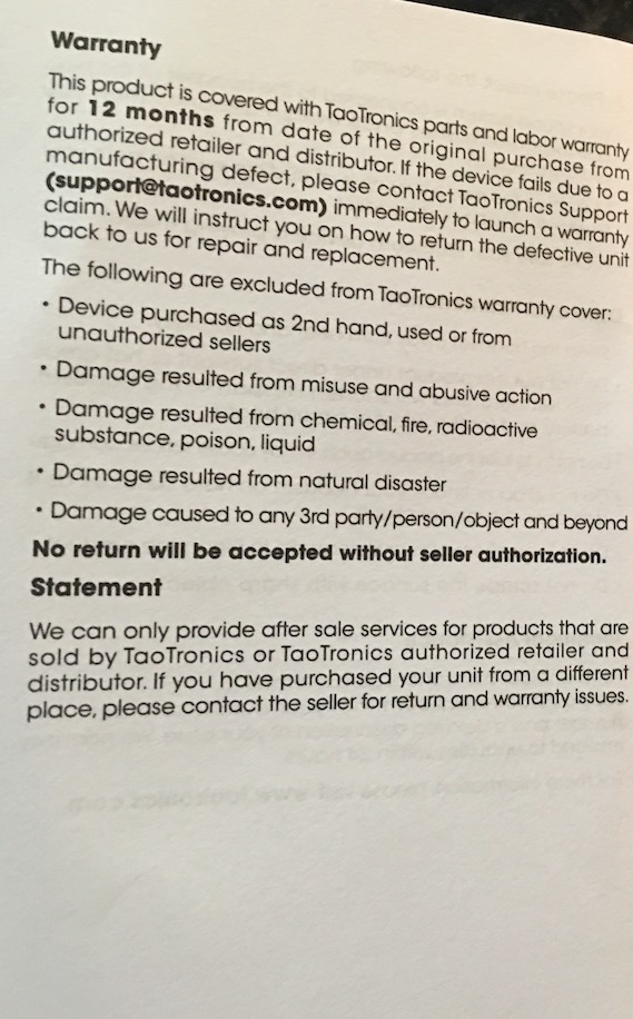 Taotronics Bluetooth Headphones User Manual 5