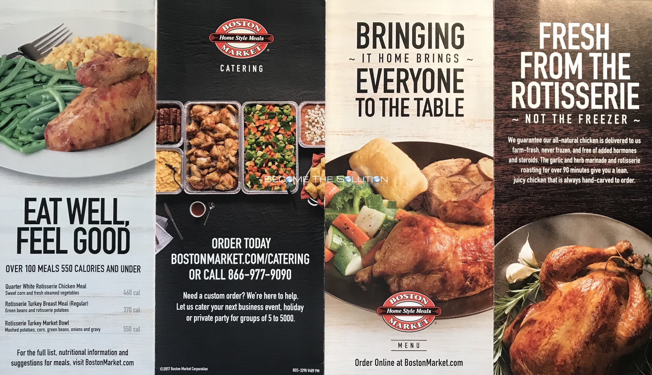 Boston Market Chicago Menu 1