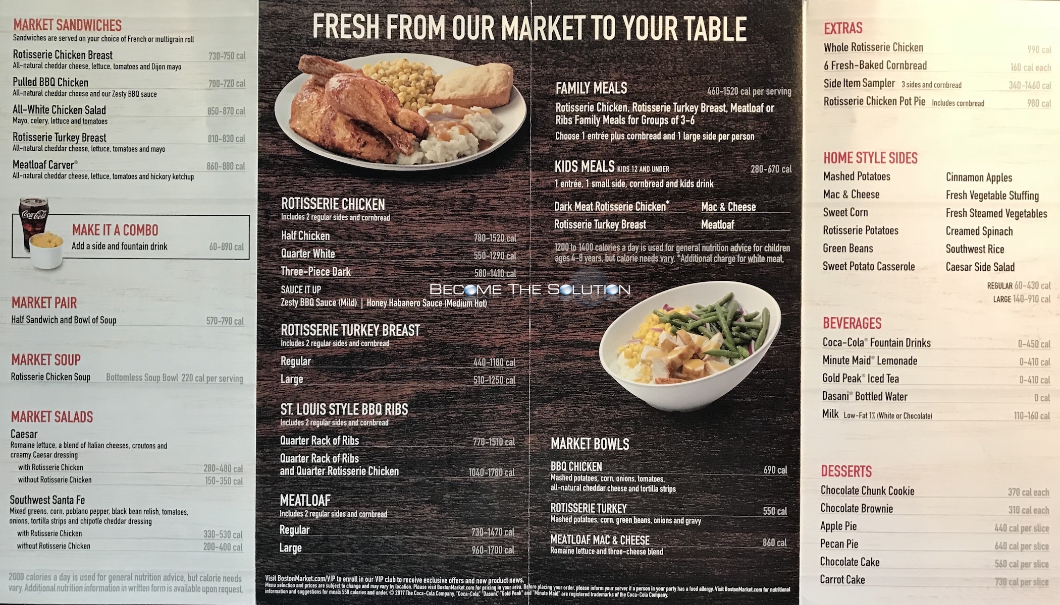 Boston Market Chicago Menu 2