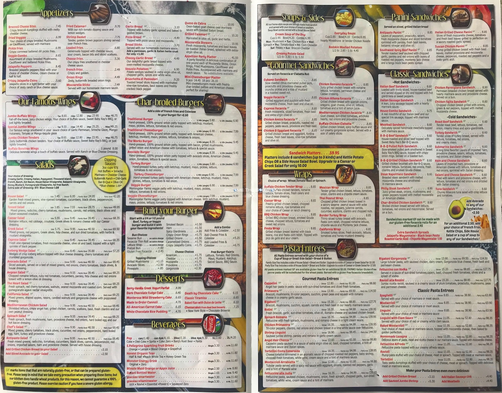 Chicago's pizza chicago menu 2