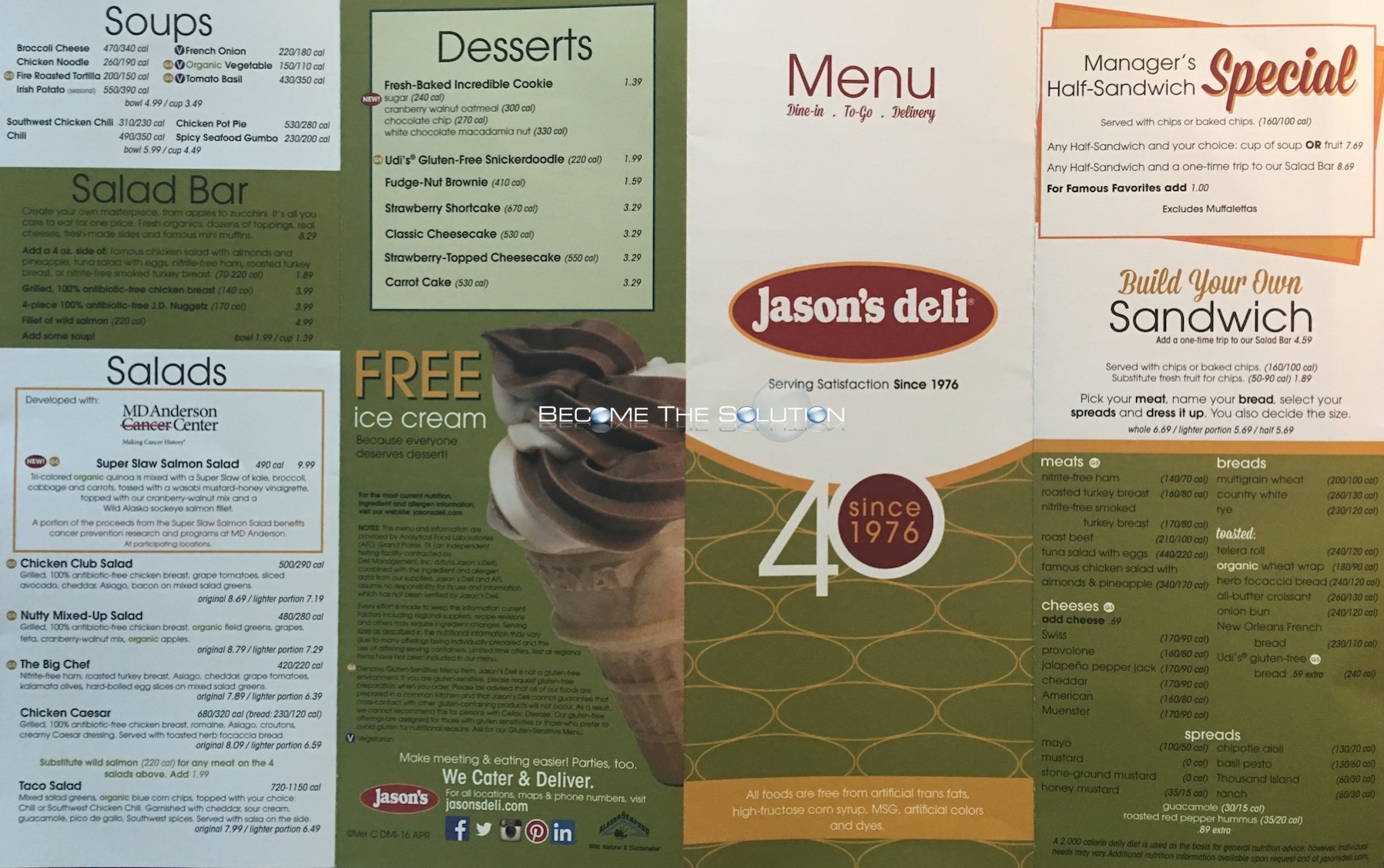 Jason's Deli Chicago Menu 1