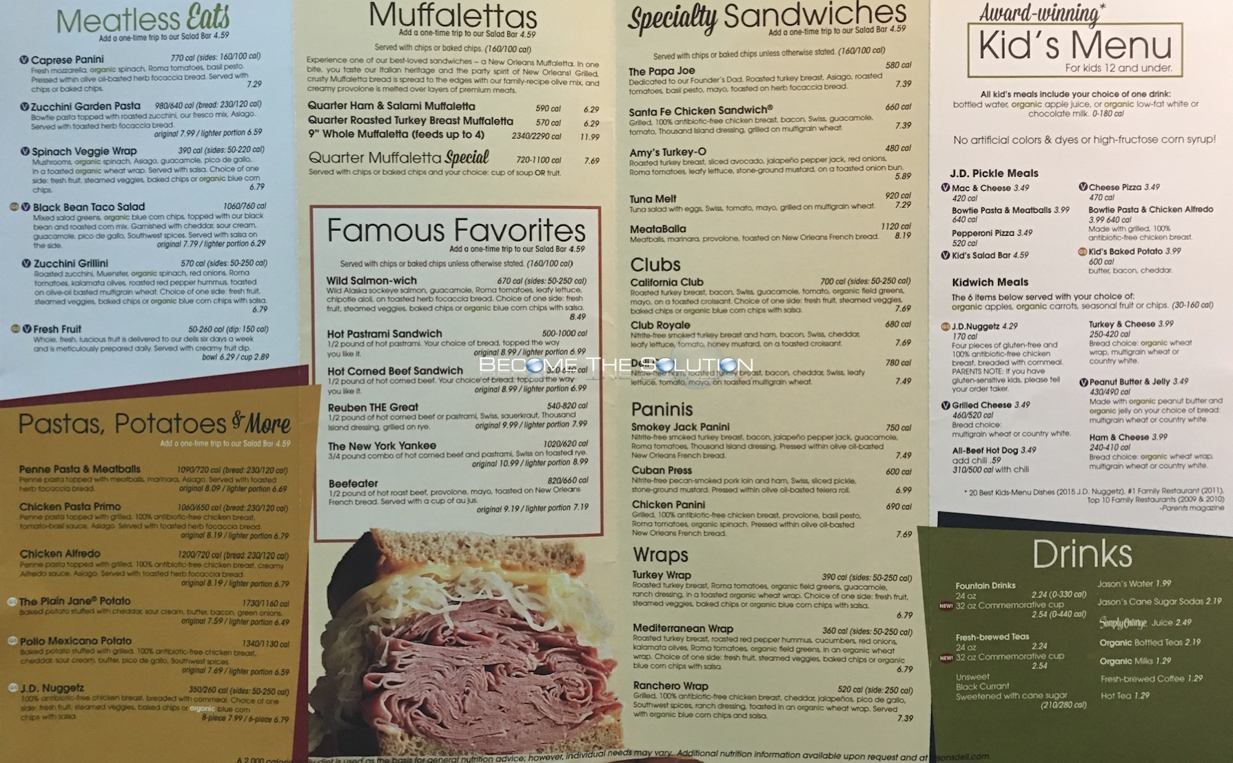 Jason's Deli Chicago Menu 2