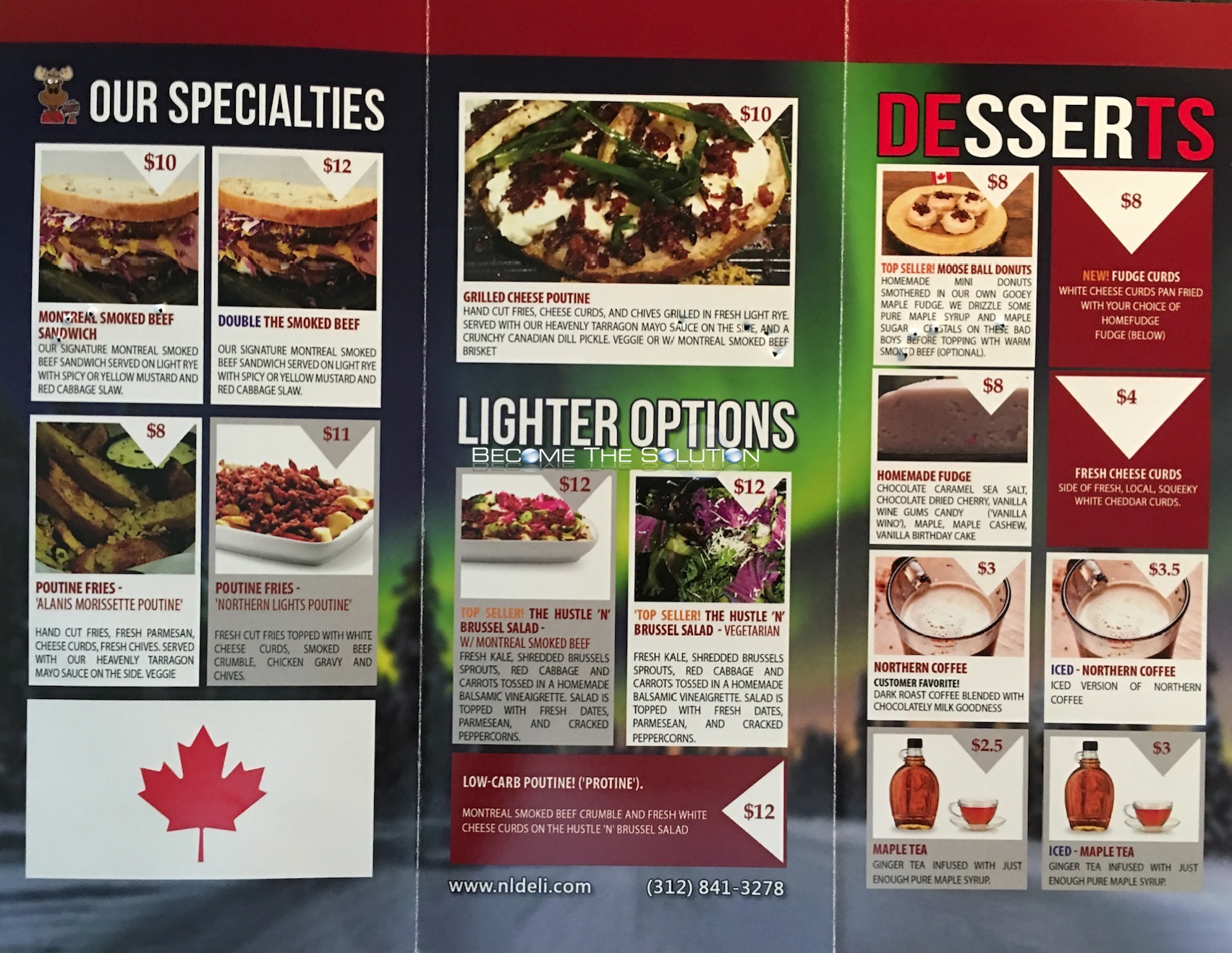 Northern Lights Poutine Chicago Menu 2