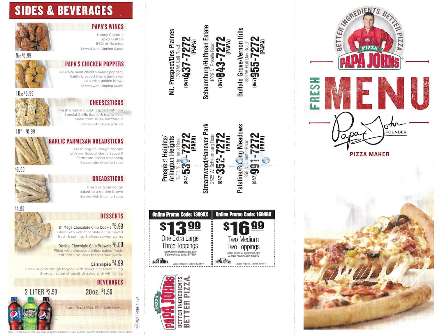 photograph about Papa Johns Printable Menu known as Papa johns menu selling price / Scanna electrical energy