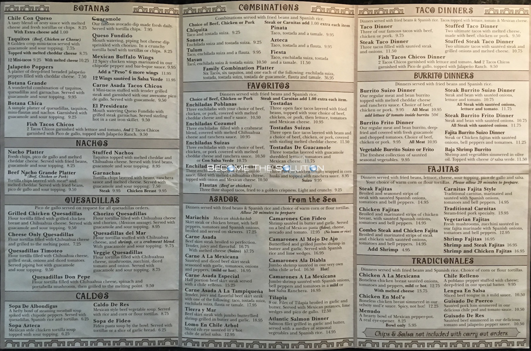 Pepe's Mexican Restaurant Chicago Menu 2