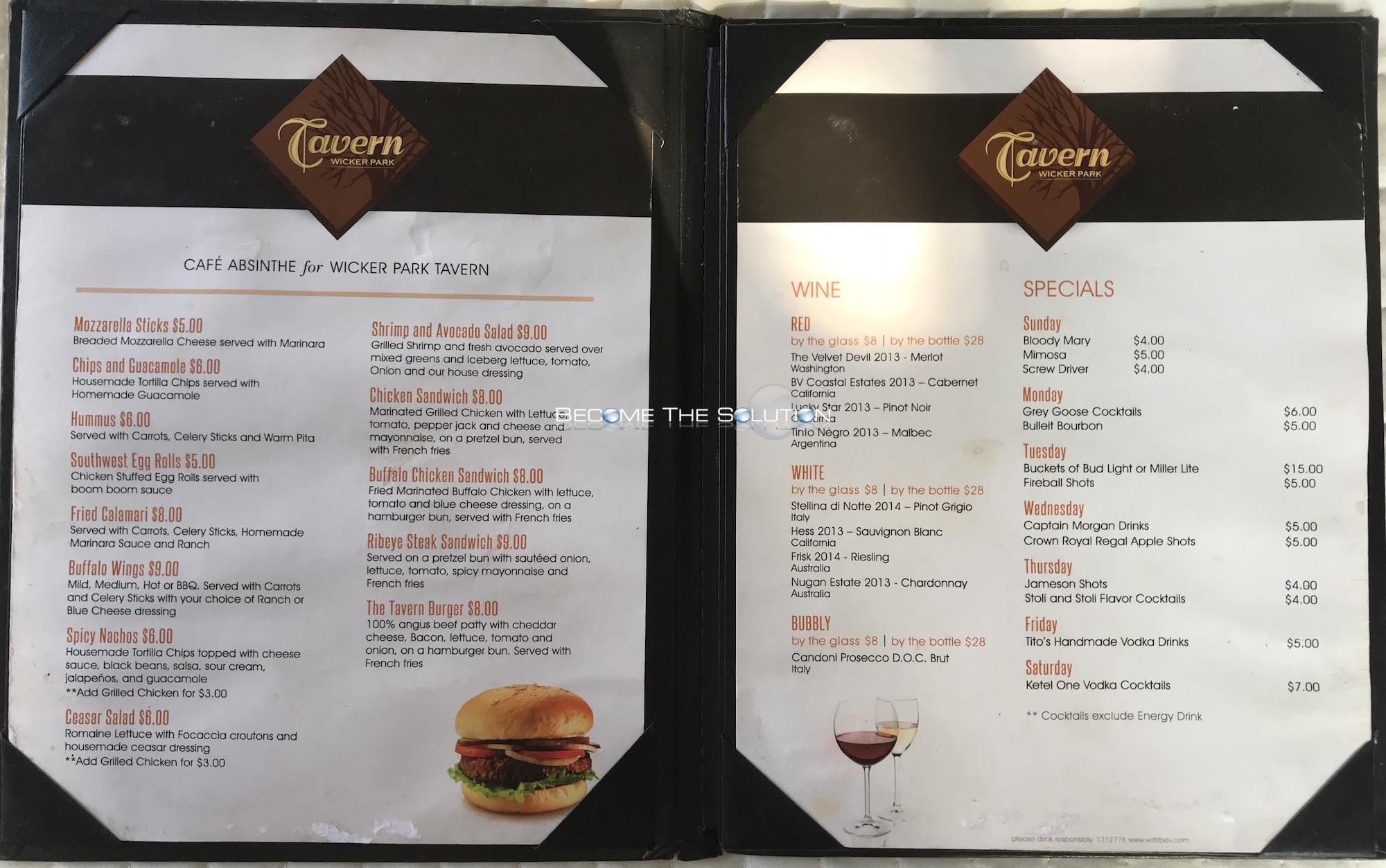 tavern wicker park menu 3