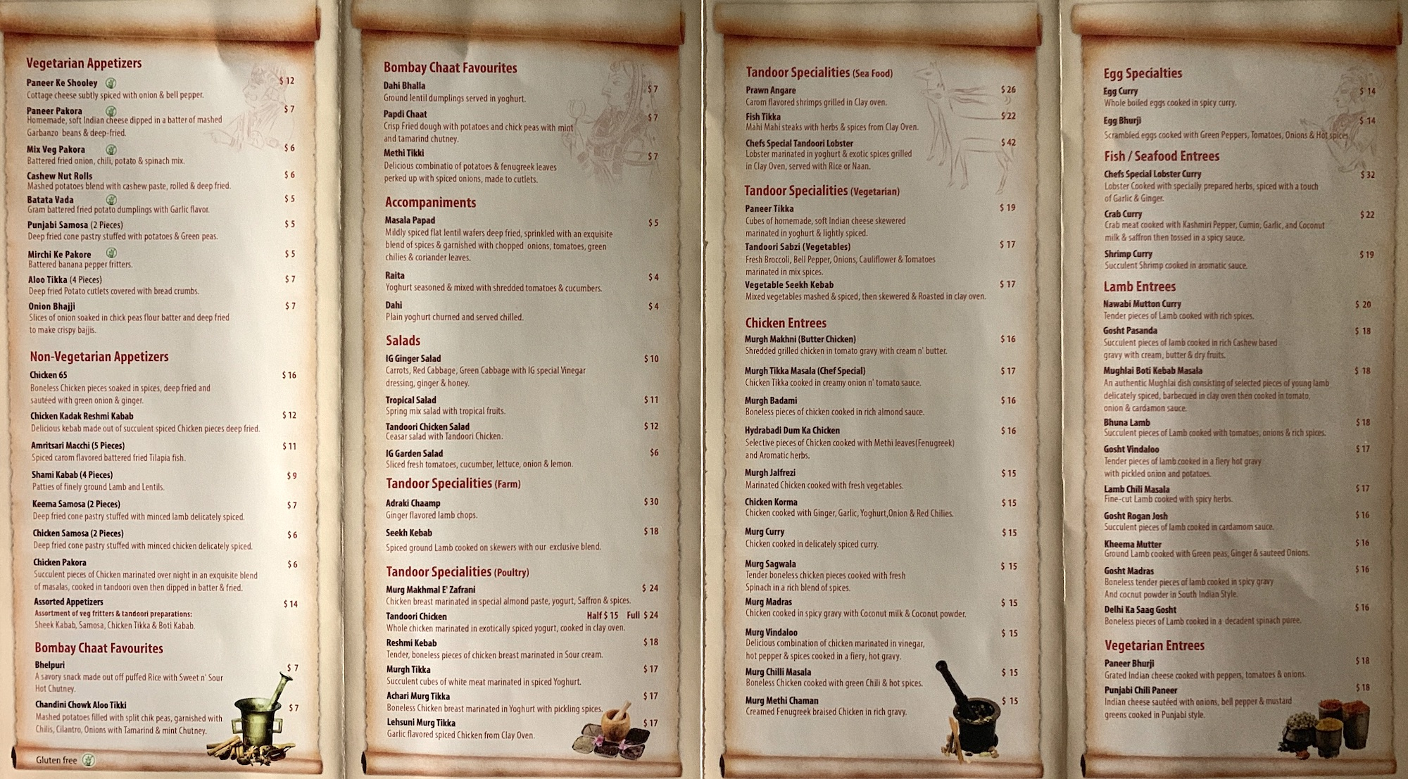 The indian garden chicago menu 2