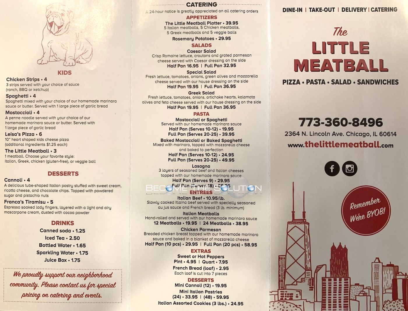 The little meatball chicago menu 1