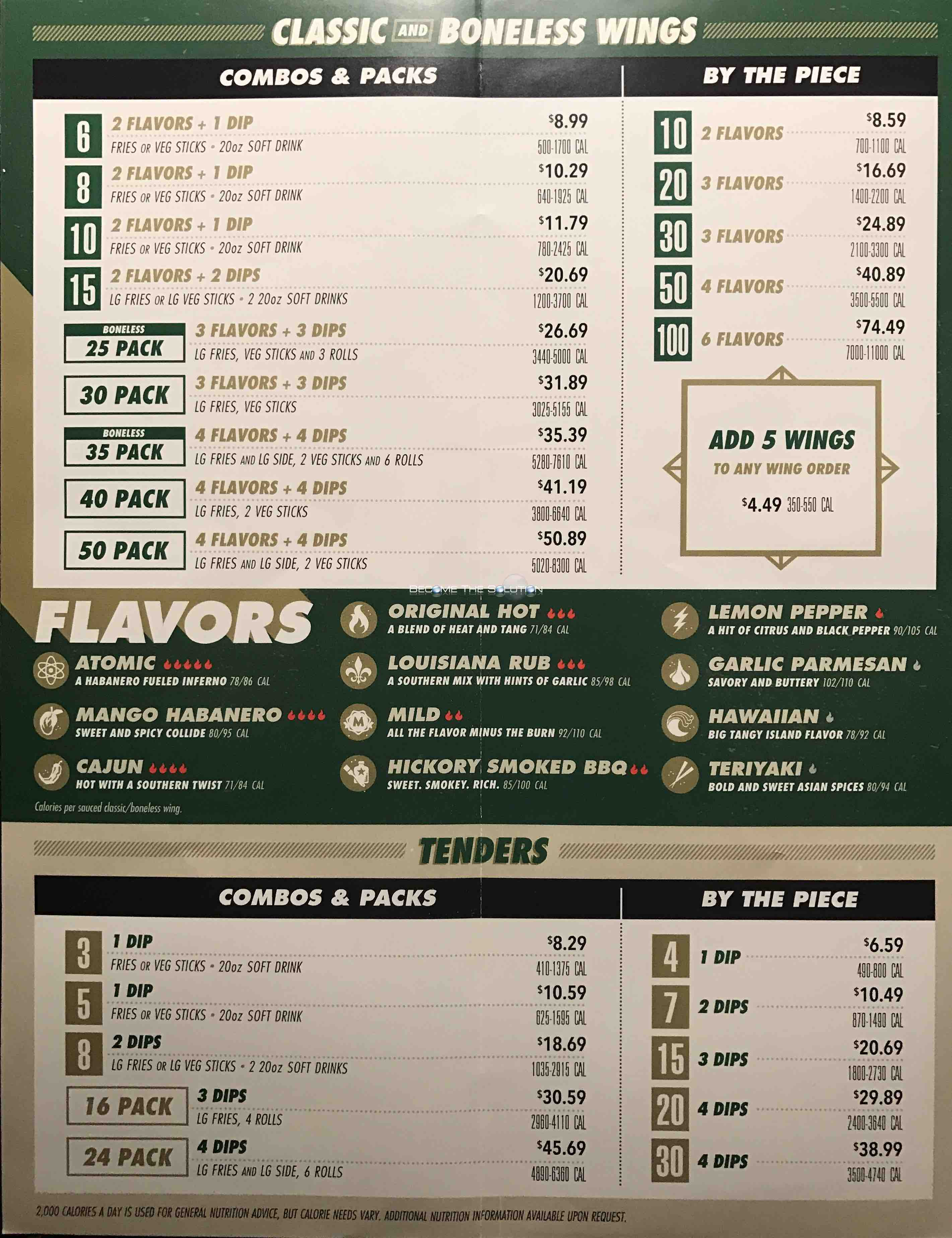 Wing Stop Carry Out Menu 2