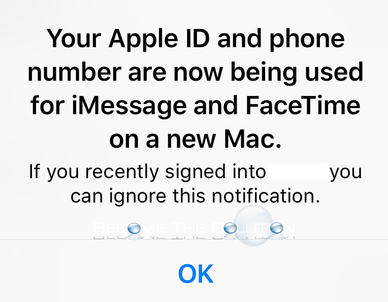 Fix: Your Apple ID and Phone Number are now Being used for iMessage and Facetime on a New Mac
