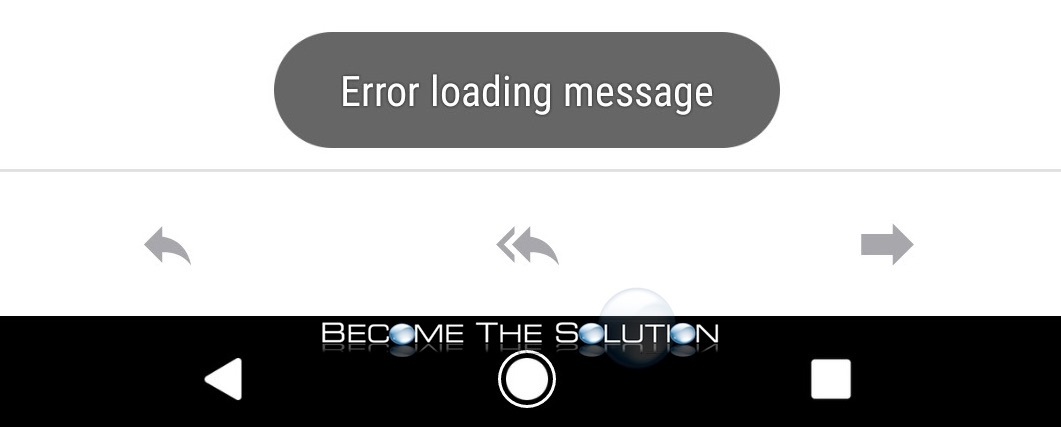 Error Loading Message – Outlook Android