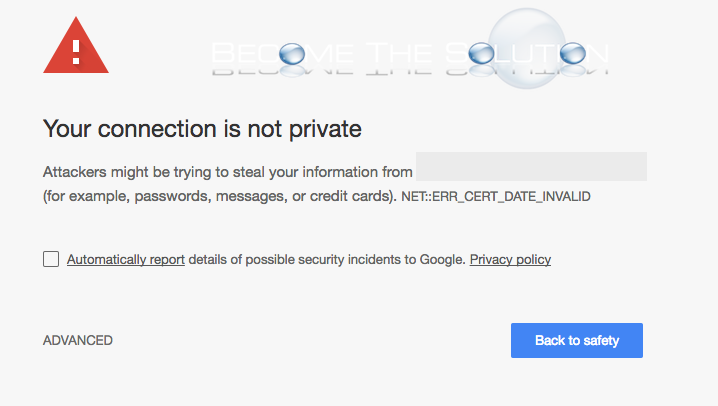 Fix: NET::ERR_CERT_DATE_INVALID – Google Chrome