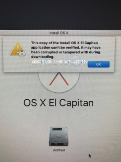 Fix: This Copy of the Install OS X El Captain Application Can't Be Verified