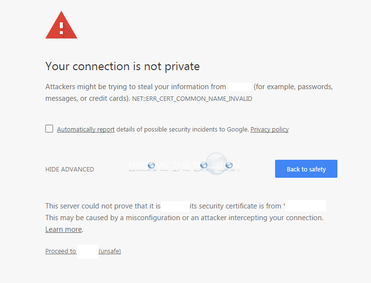 Fix: NET::ERR_CERT_COMMON_NAME_INVALID – Google Chrome
