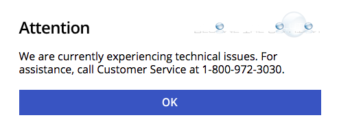 We Are Currently Experiencing Technical Issues (Desktop) – Fifth Third Bank