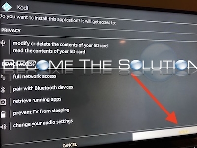 Amazon fire stick tv install kodi prompt
