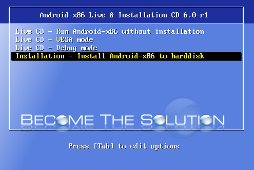 Install android virtualbox android to harddisk