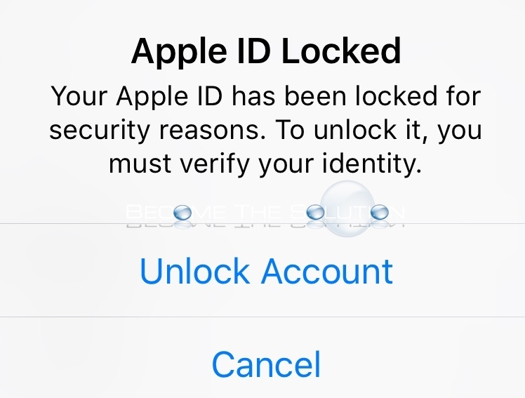 Apple ID is locked for security reasons