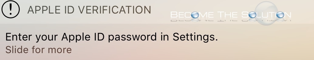 Enter your apple id password in settings