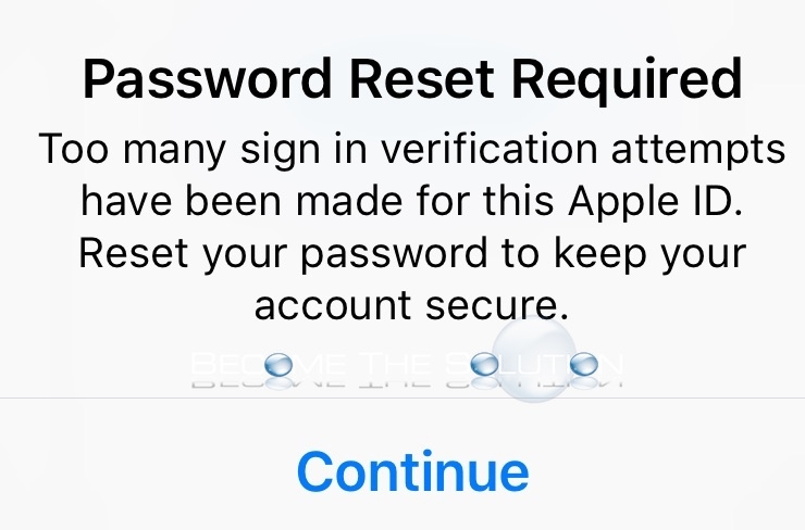 Apple too many sign in attempts apple id