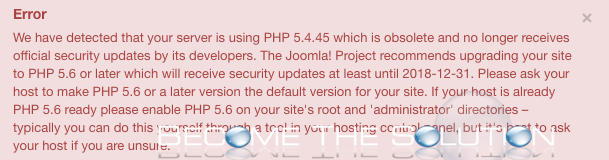 Disable Joomla 3 PHP System Error Notification Messages