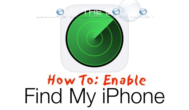 Enable Find My iPhone in Settings Latest iOS