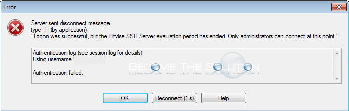 Fix: Your Bitvise SSH Server Evaluation Period Has Ended – SFTP