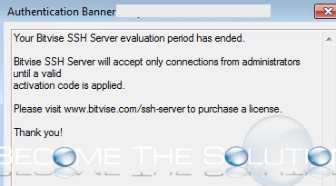 Your Bitvise SSH Server Evaluation Period Has Ended sftp