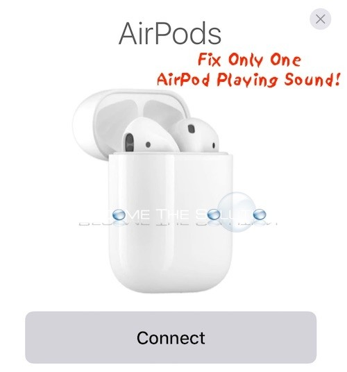 Apple Airpods Only One Working
