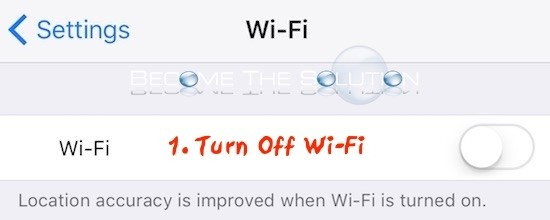 iPhone wireless off