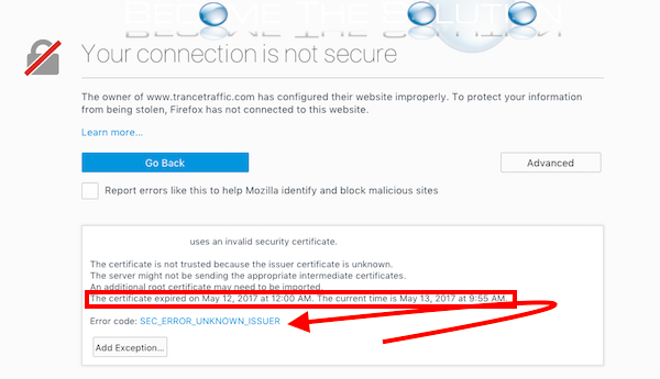 Fix: SEC_ERROR_UNKNOWN_ISSUER – Firefox Connection Not Secure