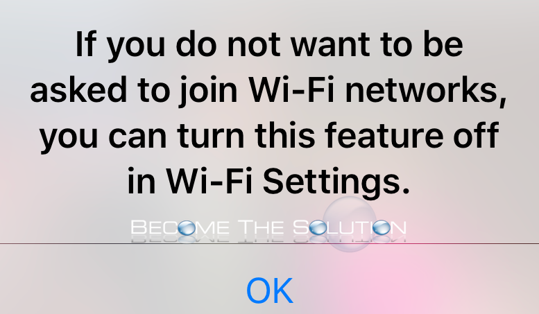 iPhone If You Do Not Want to be Asked to Join Wi-Fi Networks