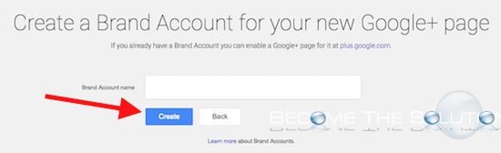 Google create brand account