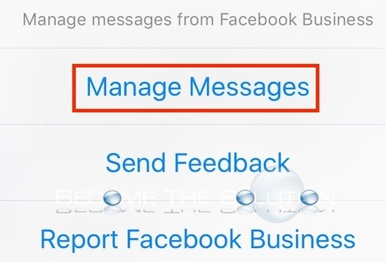 Facebook messenger manage messages