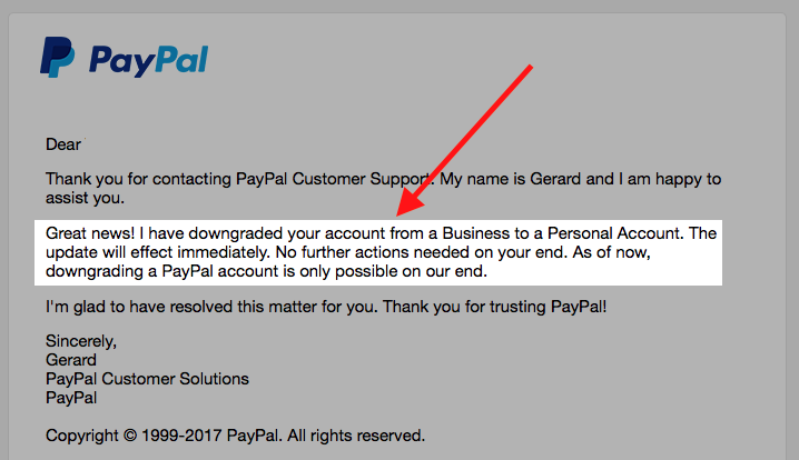 Paypal Customer Solutions Email