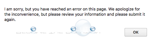 I Am Sorry but You Have Reached an Error on This Page