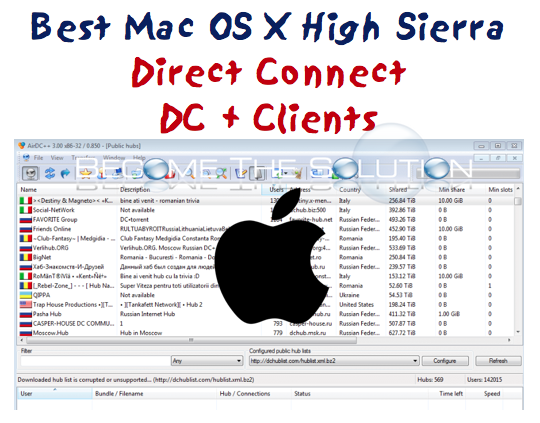 The Best Mac X DC++ Clients for Mac OS High Sierra
