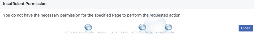 You do not have the Necessary Permission for the Specified Page to Perform the Requested Action