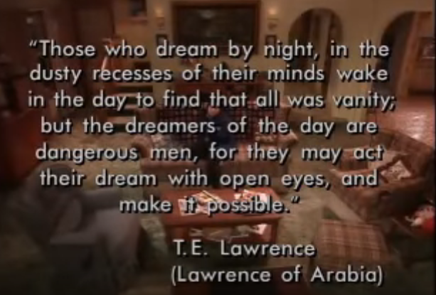 Roseanne Last Episode Quote TE Lawrence of Arabia