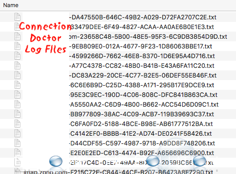 Mac mail connection doctor log files