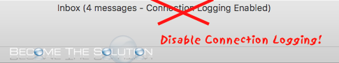 Disable Mac Mail Connection Logging