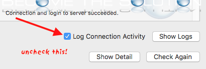 Mac mail log connection activity