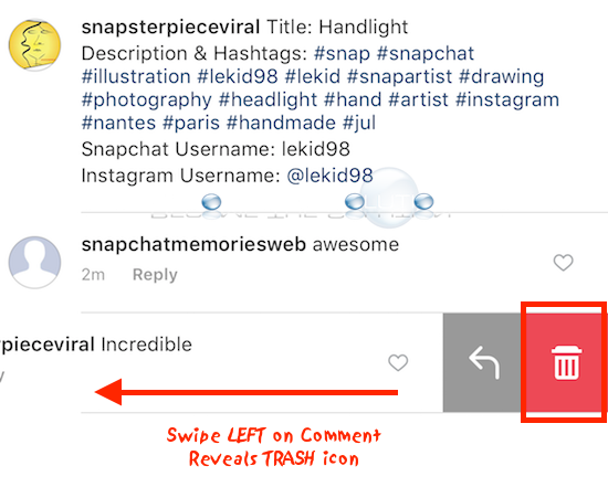 How to delete instagram comment on desktop and mobile mobile instagram delete comment trash can ccuart Image collections
