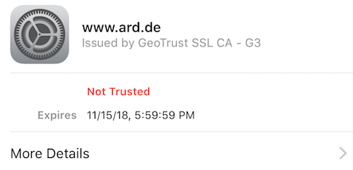 CNN ssl certificate iphone safari
